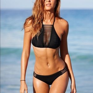 Victoria's Secret Black Halter Bikini set